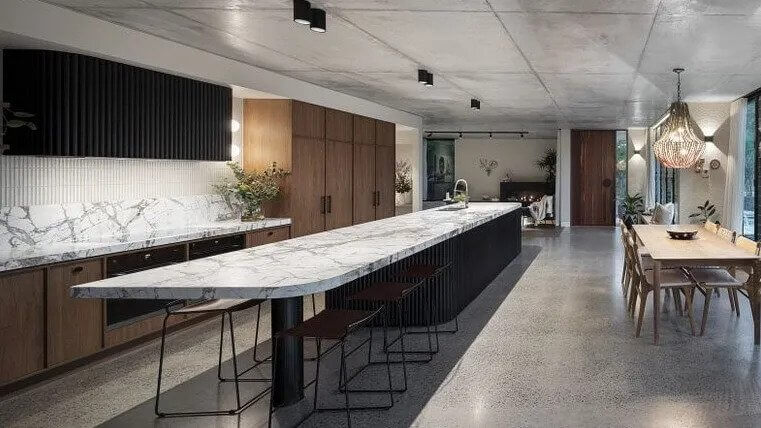The kitchen is the centre of the home at 352 Brisbane Corso, Yeronga.